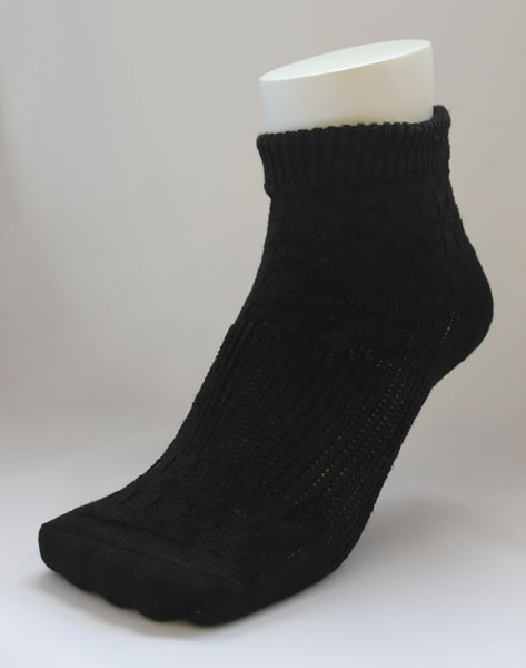 And was a rock bath processing and far red processing ★ two-legged cover socks (black)