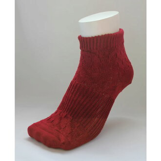 And was a rock bath processing and far red processing ★ two-legged cover socks (dark red)
