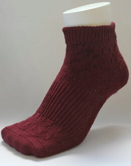 And was a rock bath processing and far red processing ★ Biped cover socks ( darkwine )