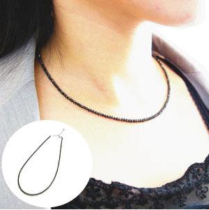 【すぐに使える10%OFFクーポン】ブラックダイヤモンドネックレス20ct(K18WG×BLACK DIAMOND 20ct)【送料無料】!