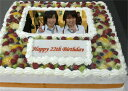 写真ケーキ(四角) 生クリーム11号【あす楽対応定休日は不可...