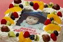 写真ケーキ(四角) 6号 生クリーム【冷凍 到着後は冷蔵庫で3〜4時間保管解凍】18×18cm