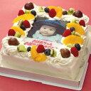 写真をケーキに!!世界にひとつのあなただけのケーキ誕生日ケーキや記念日/パーティに♪【写真/バースデイケーキ】写真ケーキ(四角) 5号 生クリーム【誕生日ケーキ/バースデイケーキ/記念日/結婚式/写真】
