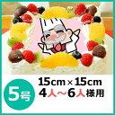 写真ケーキ(四角) 5号 生クリーム【冷凍 到着後は冷蔵庫で...