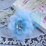★定型外郵便可★7色2WAYオーガンジーコサージュ卒業式 卒園式 入学式 入園式 結婚式 和装 髪飾り 帯飾り