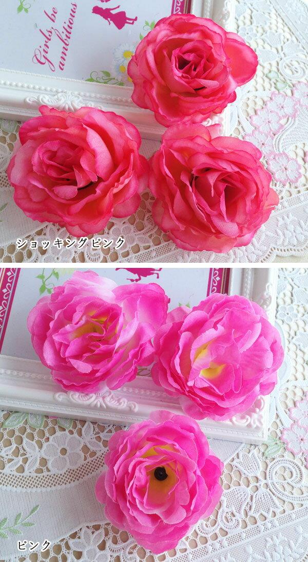 激安★コサージュ用造花/薔薇造花/髪飾り用