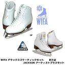 【送料無料】フィギュアスケート スケート靴 アーティストプラスセット / デラックススケーティックセット 白 20cm〜 難あり