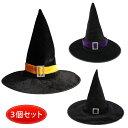 【3点セット】ハロウィン 帽子 魔女 仮装 コスプレ 魔法使