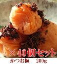 かつお梅200g × 40個セット 【和歌山県産】 【10P03Aug09】