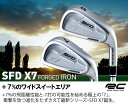●ロイヤルコレクション SFD X7 FORGED アイアンRC 100HTスチール 5本セット(#6〜PW)