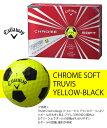 【限定商品】キャロウェイ ボール(2016)CHROME SOFT TRUVIS YELLOW-BLACK/クロム ソフト トゥルービス イエロー/ブラック ボール 1ダース