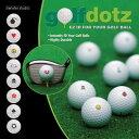 ●指で押さえるだけでゴルフボールにプリントできる!golfdotz(ゴルフドッズ)2シート入り
