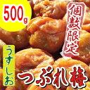 【紀州南高梅】製造中潰れてしまった『うすしお味梅 つぶれ500g』