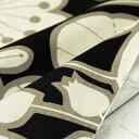 オックス生地 Remo ブラック 150cm幅 [10cm単位販売] 大柄 プリント ワイド幅 コットン 綿 切り売り