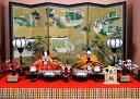 【送料無料】 ひな人形【北寿監修】 安藤桂甫 作 京七番 親王飾り有職 黄櫨染