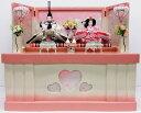 【送料無料】ひな人形【北寿監修】三五親王 収納飾りアイボリー 桜リボン