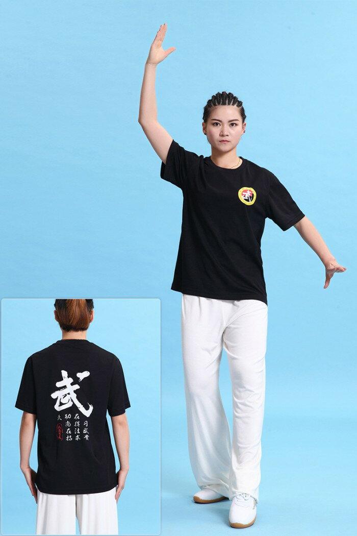 【レターパック360対応!】【太極拳】カッコイイ中国武術デザインTシャツ!練習には武術らしい動きやすいTシャツが一番!武術Tシャツ