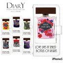 iPhone5 ケース 手帳型 アイフォン 携帯ケース カバー デザイン 香水ボトル パフューム Perfume
