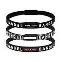 ショッピングブレスレット 正規品 BANDEL line バンデル ライン 3本 ブレスレット セット 3 piece set LBB Black ブラック ホワイト 黒 白 メンズ レディース ユニセックス S M L
