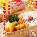ショッピング玄米 29年産 千葉県産 ミルキークイーン 玄米 30kg