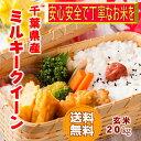 ショッピング玄米 30年産 千葉県産 ミルキークイーン 玄米 20kg(10kg×2)