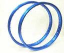 スーパーカブ用リム 2本組青(ブルー)17インチ アルミホイールサイズ:1.20×17