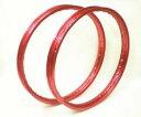 スーパーカブ用リム 赤 2本組17インチ アルミリムレッド サイズ : 1.20x17