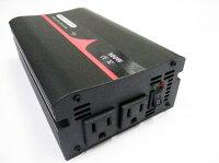 正弦波インバーター定格500W(最大1000W)DC12/24V-AC100V【保障付き】