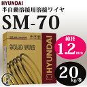 現代(ヒュンダイ) 低電流薄板用溶接ワイヤSM-70(SM70) 線径1.2mm 20kg/巻【あす楽】