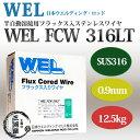 WEL FCW 316LT 0.9mm 12.5kg巻 半自動溶接機用フラックス入ステンレスワイヤ 日本ウエルディング・ロッド