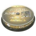 BD-R DL 50GB(片面2層) ブルーレイディスク CPRM 1回録画用 10枚 lazos L-BDDL10 高速6倍 【ゆうパケット(メール便)便送料無料】