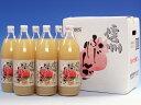 【送料込】信州ふじりんごジュース 1L×6本