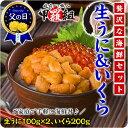 【父の日ギフトOK】無添加生うに&北海道完熟いくら醤油漬け贅...