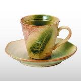 茶碗粗捻盘设置Kezuri[荒けずりねじり コーヒー碗皿セット]