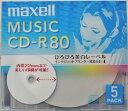 マクセル 音楽用CDR80分 5枚 CDRA80WP5S