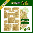 大分県産大豆《中粒》 1kg×5〔チャック付〕/新物28年産