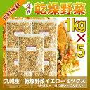 乾燥野菜イエローミックス1kg×5〔チャック付〕/九州産 乾燥野菜 南瓜 白菜 人参