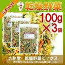 乾燥野菜ミックス 100g×3〔チャック付〕/九州産 乾燥野菜 きゃべつ 大根葉 大根 人参