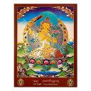 【チベット仏画】タンカ(曼荼羅)のポスター「Arya Manjushree」約49cm×約36.5c