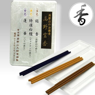 Koyasan perfume sample set