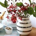 Kahler (ケーラー)オマジオ フラワーベースミディアム シルバー 花瓶 陶器日本正規代理店品