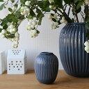 Kahler(ケーラー)ハンマースホイフラワーベース ミニダークグレー 花瓶 陶器日本正規代理店品