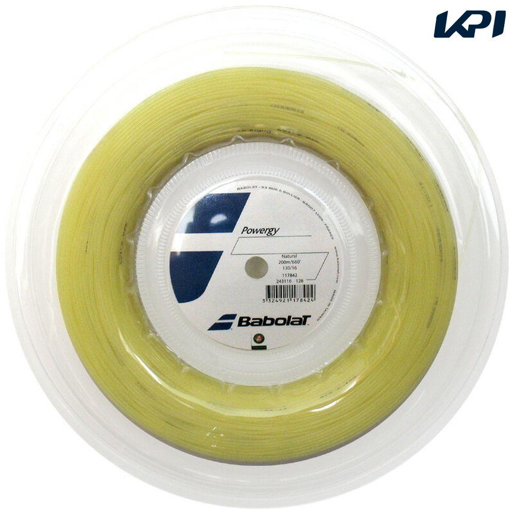 『新パッケージ』BabolaT(バボラ)「POWERGY(パワジー)130 BA243116」200mロール」硬式用テニスストリング(ガット)