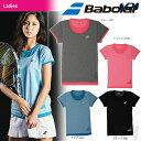 『即日出荷』「2017新製品」Babolat(バボラ)「Women's レディース ショートスリーブシャツ BAB-1732W」テニスウェア「2017SS」「あす..