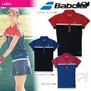 『即日出荷』「2017新製品」Babolat(バボラ)「Women's レディース ショートスリーブシャツ BAB-1741W」テニスウェア「2017SS」「あす..