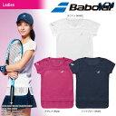 babolat - 【30%OFFクーポン対象】バボラ Babolat テニスウェア レディース SHORT SLEEVE SHIRT ショートスリーブシャツ BTWLJA06 2018SS