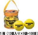 BRIDGESTONE(ブリヂストン)「ノンプレッシャー(NP)1箱(12個入り×9袋=108球)」テニスボール【smtb-k】【kb】
