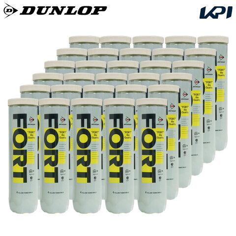 DUNLOP(ダンロップ)「FORT(フォート)[4個入]1箱(30缶/120球)」テニスボール【店頭受取対応商品】