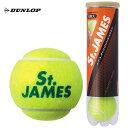 【新パッケージ】DUNLOP(ダンロップ)【St.JAMES(セントジェームス)(1缶/4球)】テニスボール