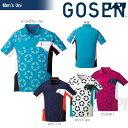 「2017新製品」GOSEN(ゴーセン)「UNI 星柄ゲームシャツ T1712」テニスウェア「2017SS」【KPI】